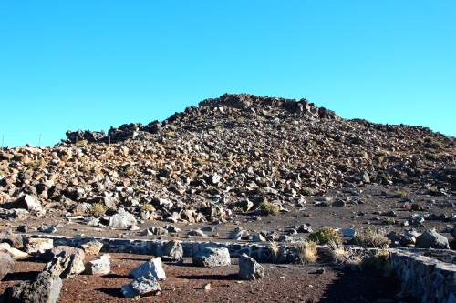 Nothing but rocks at the top