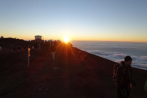 Observatory in Sunset at Mt. Haleakala