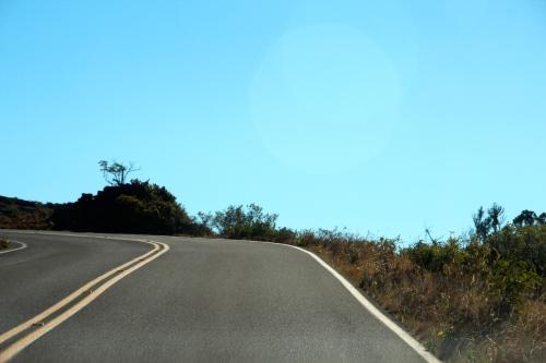 Road up Mt. Haleakala