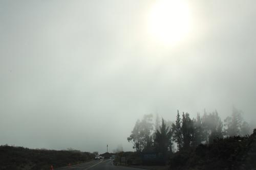 Sun breaking through clouds on Mt. Haleakala