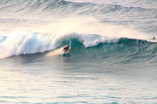 Surfing at Ho'okipa Beach