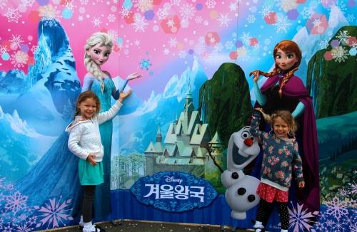 Children Imitating Frozen Characters