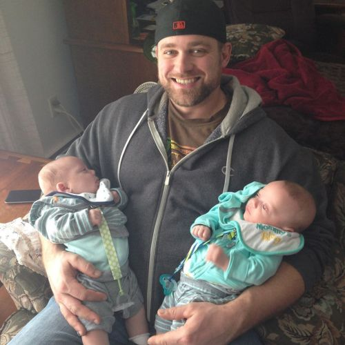 Father with twins