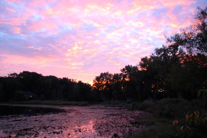 Sunrise on our lake