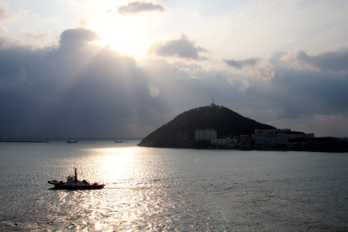 Approaching Busan Harbor