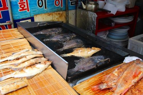 Fish frying at Jagalchi Market