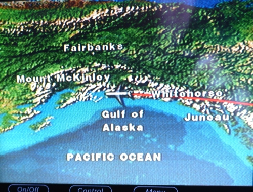 Flight Map in Alaska
