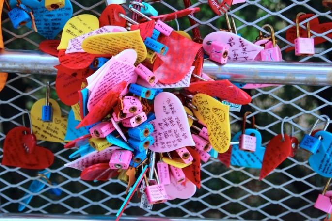 Lockets at Yongdusan Park. Busan