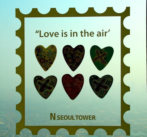 Love is in the air. Seoul Tower