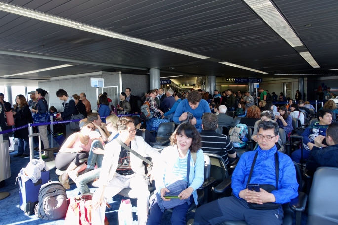 People waiting for flight