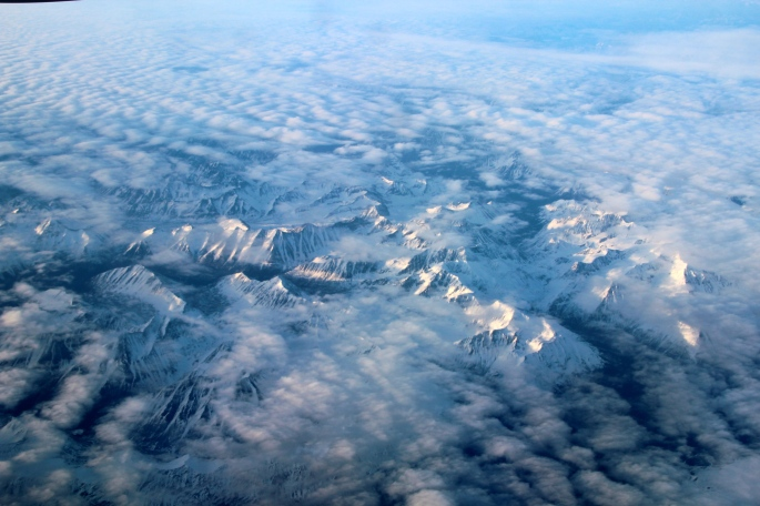 Rocky Mountains from the air