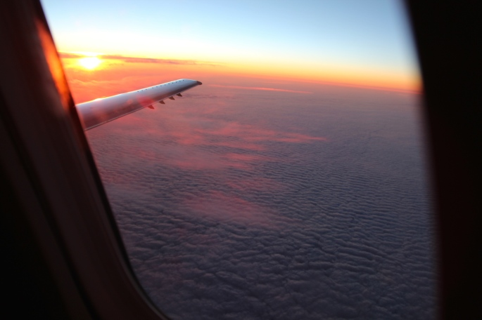 Sunset on Transpacific flight 549
