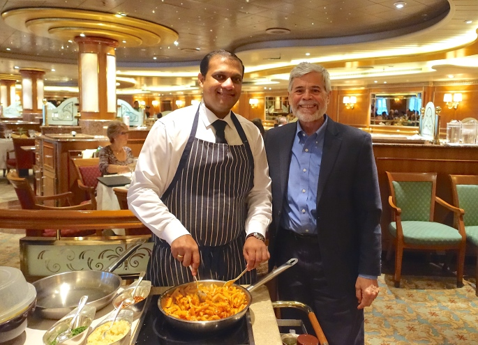 Alan with Chef.  Sapphire PrincessJPG