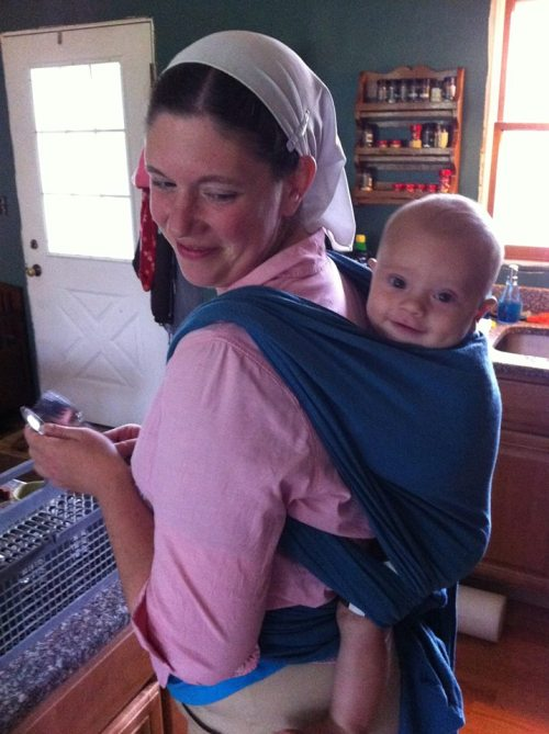 Baby in Moby Wrap 9.13