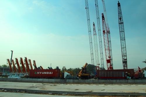 Bangkok construction of highway 3