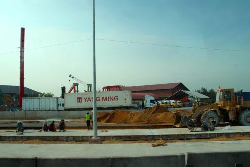 Bangkok construction of highway