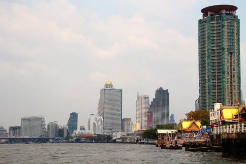 Bangkok Downtown from Chao Phraya River 2