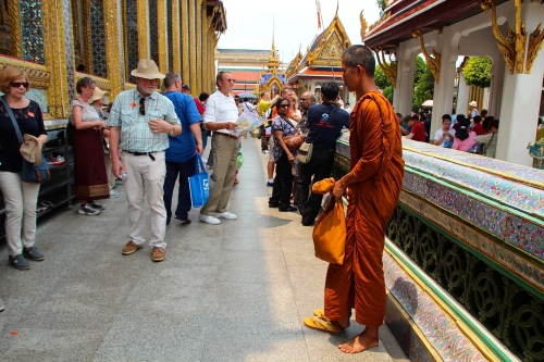 Buddhist Monk Grand Palace. Bangkok
