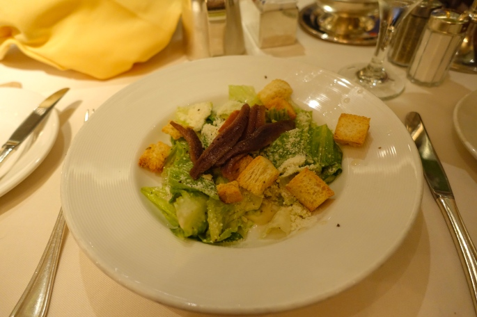 Caesar Salad with real anchovies! Sapphire Princess