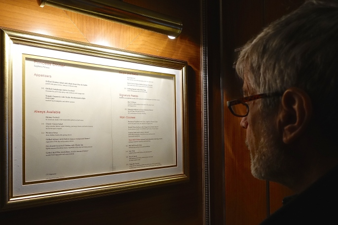 Checking the menu