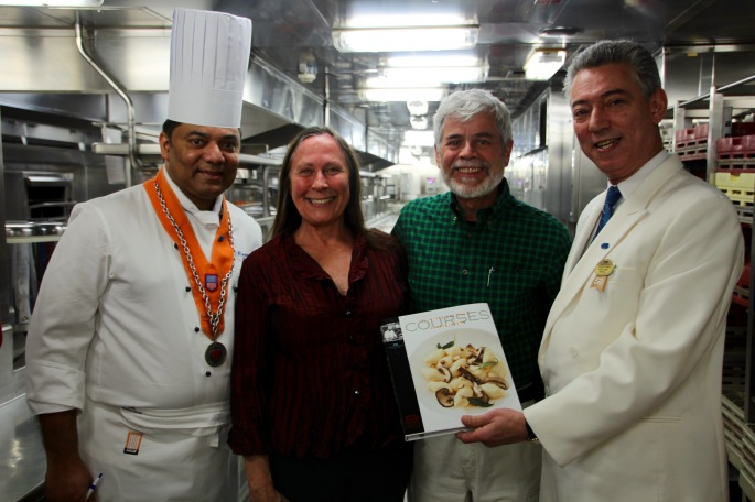 Chef  Raggie Saldanha with us Sapphire Princess