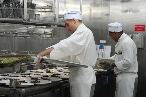 Chefs preparing salads Sapphire Princess