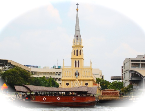 Church along Chao Phraya River