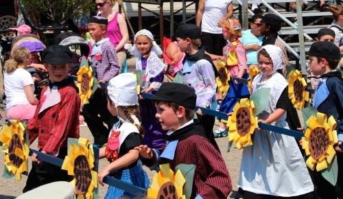Dutch children in costume Holland Tulip Time