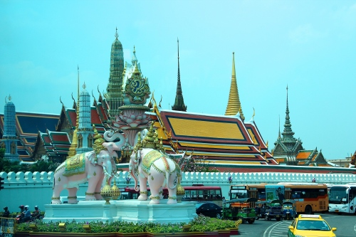 Elephants guarding entrance to Grand Palace in Bangkok