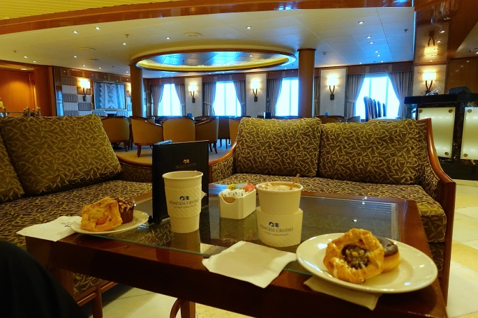First Breakfast of pastries Sapphire Princess