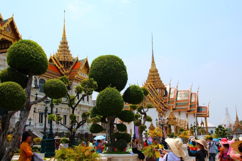 Grand Palace. Bangkok Walls