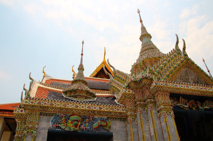 Intricate Mosaiacs Grand Palace. Bangkok
