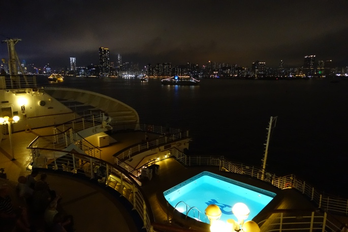 Leaving Hong Kong Harbor at Night Sapphire Princess