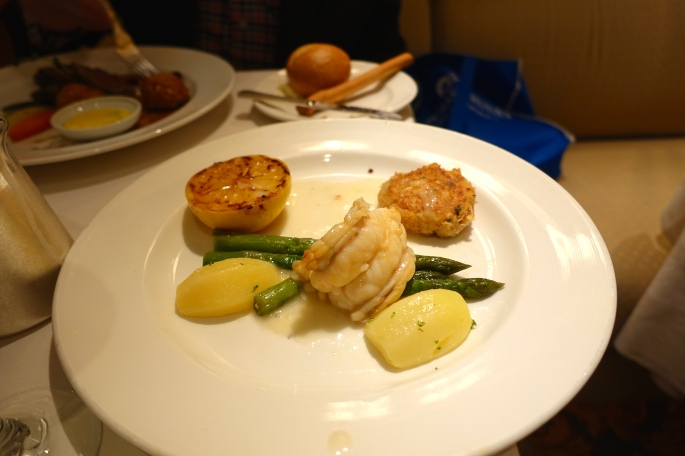 Lobster and crab cake Sapphire Princess