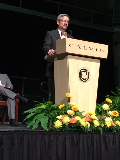 Michael Le Roy, president of Calvin College