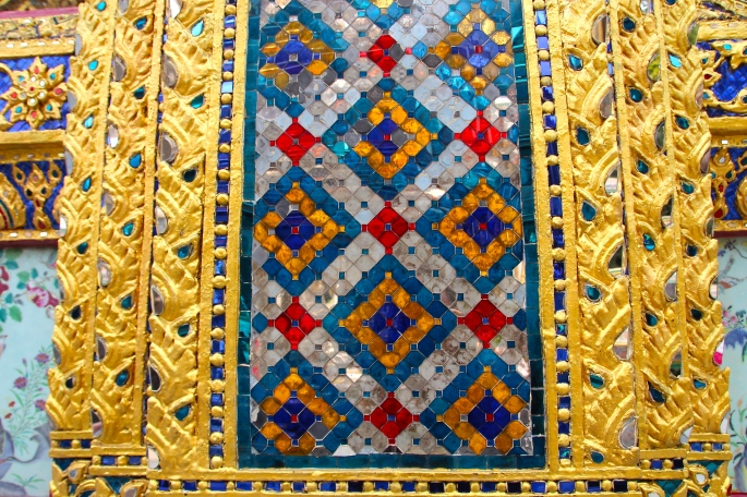 Mosaic Inlays Grand Palace. Bangkok