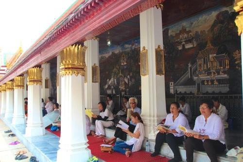 Religious Service Grand Palace. Bangkok