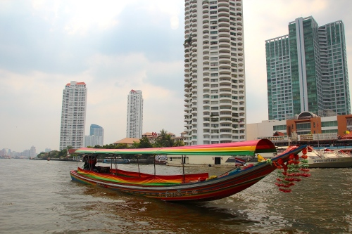 Sampan on Chao Phraya River