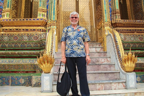 Steps of Chapel of the Emerald Buddha Grand Palace. Bangkok