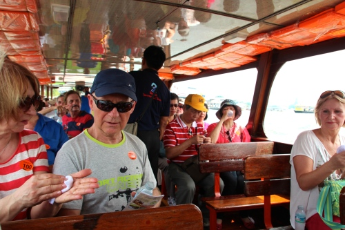 Tourists on the Chao Phraya River
