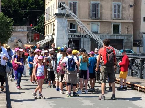 Children on Bridge in Grenoble