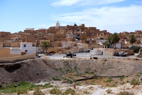 City on a hill in Tunisian Wilderness