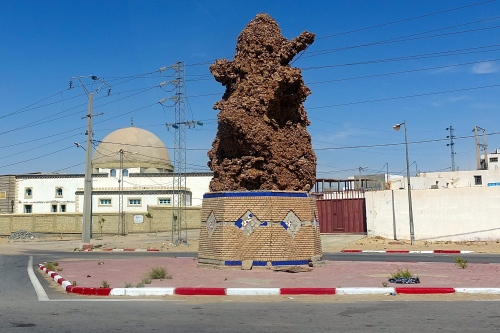 Desert Rose Conglomerate on Tunisian highway