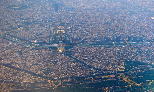 Eiffel Tower. Paris from the air