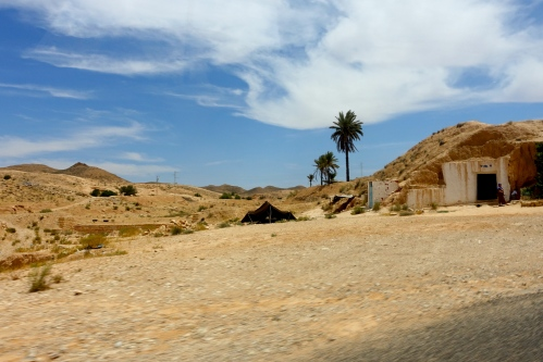 Houses built in rock. Tunisia. 2