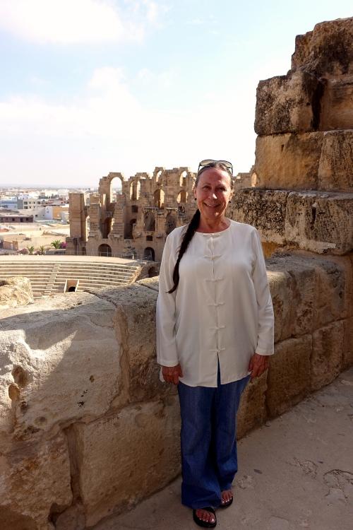 Kathi at El Djem