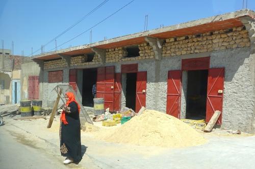 Lone woman on road in Tunisia