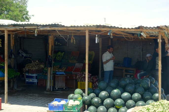 Melons for sale in Tunisia