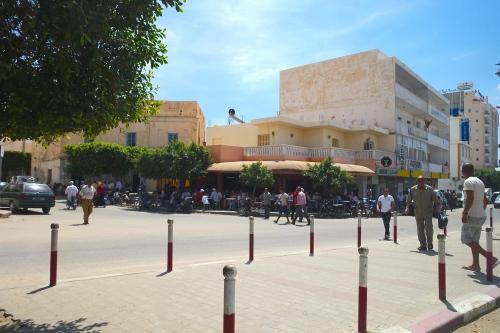 Men Everywhere on Street in Tunisia