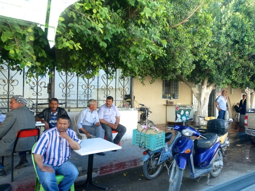 Men on street in Tunisia